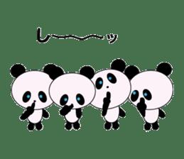 child's giant panda sticker #10715789