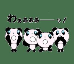 child's giant panda sticker #10715793