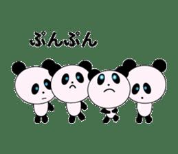 child's giant panda sticker #10715794