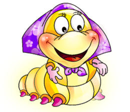 A Pretty Sweet Bug: Worm Lady sticker #10743176
