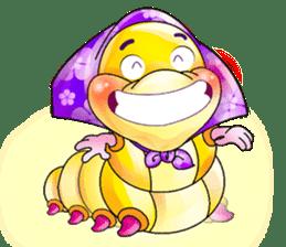 A Pretty Sweet Bug: Worm Lady sticker #10743177