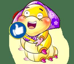 A Pretty Sweet Bug: Worm Lady sticker #10743181