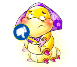 A Pretty Sweet Bug: Worm Lady sticker #10743195
