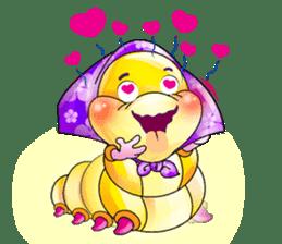 A Pretty Sweet Bug: Worm Lady sticker #10743197