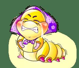 A Pretty Sweet Bug: Worm Lady sticker #10743199