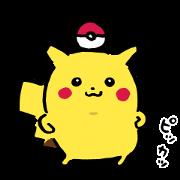 สติ๊กเกอร์ไลน์ Pikachu, Switch Out! Come Back!