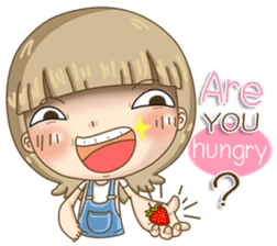Twinkling Girl (Eng) sticker #10760456
