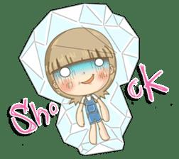 Twinkling Girl (Eng) sticker #10760464