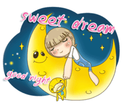 Twinkling Girl (Eng) sticker #10760466