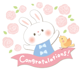 Congratulations and Thank you[English] sticker #10762584