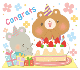 Congratulations and Thank you[English] sticker #10762597