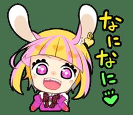 Fairy tale rabbit sister sticker #10763547