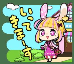 Fairy tale rabbit sister sticker #10763552