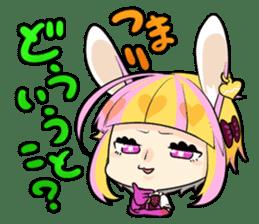 Fairy tale rabbit sister sticker #10763556