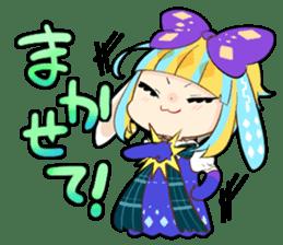 Fairy tale rabbit sister sticker #10763566