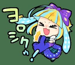 Fairy tale rabbit sister sticker #10763568