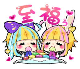 Fairy tale rabbit sister sticker #10763576