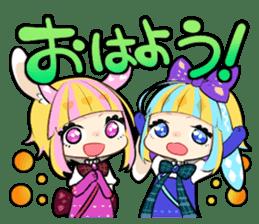 Fairy tale rabbit sister sticker #10763577