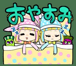 Fairy tale rabbit sister sticker #10763578