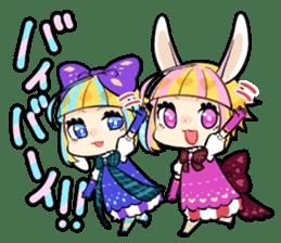 Fairy tale rabbit sister sticker #10763580