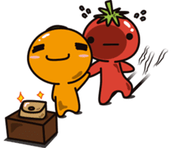 Tomato and Orange sticker #10764814