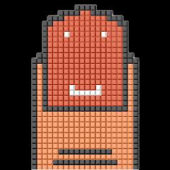8-bit pixel color nail