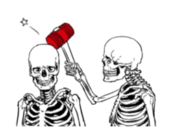 just bones8 sticker #10782399