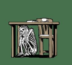 just bones8 sticker #10782400
