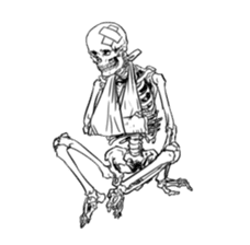 just bones8 sticker #10782421