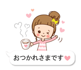 Balloon of the line talking sticker #10783161