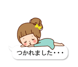 Balloon of the line talking sticker #10783186