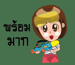 Songkran day sticker #10784042