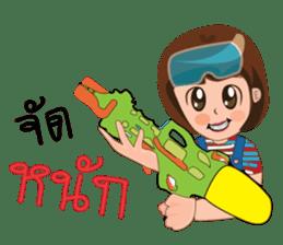 Songkran day sticker #10784043