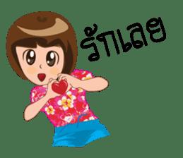 Songkran day sticker #10784059