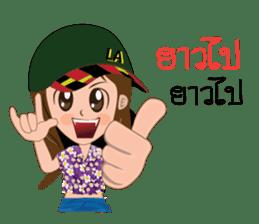 Songkran day sticker #10784067