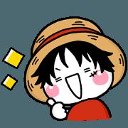 สติ๊กเกอร์ไลน์ wanpi_sticker_ONE PIECE
