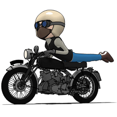 Cafe Racer Classic rider 2