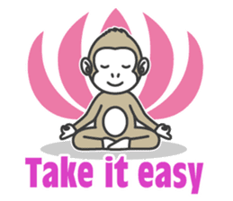YOGA MONKEY OJAS sticker #10806763