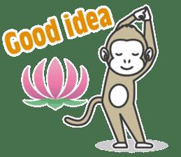 YOGA MONKEY OJAS sticker #10806767