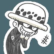 สติ๊กเกอร์ไลน์ poi's ONE PIECE Sticker 3