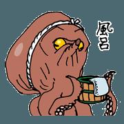 สติ๊กเกอร์ไลน์ ONE PIECE - SANSUKE the Octopus