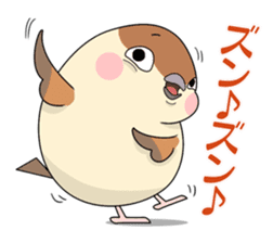 Lovable sparrow Mr sticker #10817178