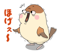 Lovable sparrow Mr sticker #10817189