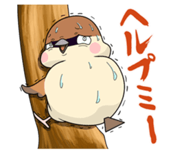 Lovable sparrow Mr sticker #10817200