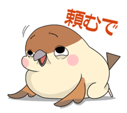 Lovable sparrow Mr sticker #10817215