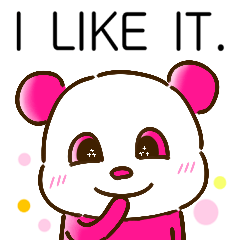 colorful panda message(english ver)
