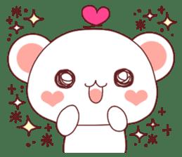 Fluffy Bear Shout the love! pinky! sticker #10834704