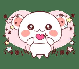 Fluffy Bear Shout the love! pinky! sticker #10834705