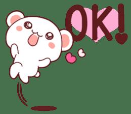 Fluffy Bear Shout the love! pinky! sticker #10834707