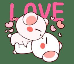 Fluffy Bear Shout the love! pinky! sticker #10834709